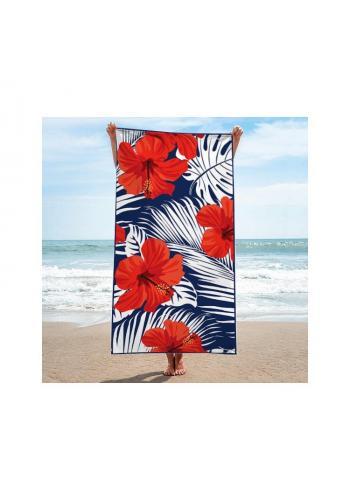 Obdélníkový ručník s letním potiskem na pláž