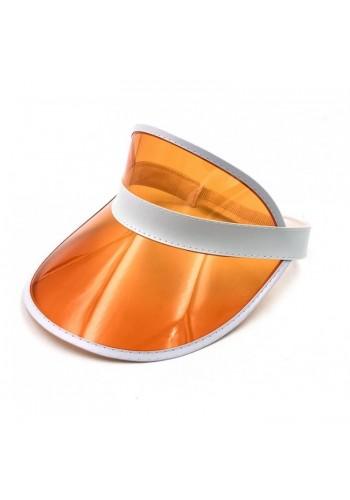 Průsvitná dámská kšiltovka oranžové barvy