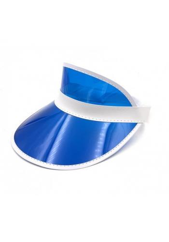 Dámská průsvitná kšiltovka v modré barvě