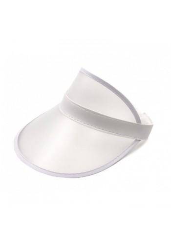 Bílá průsvitná kšiltovka pro dámy