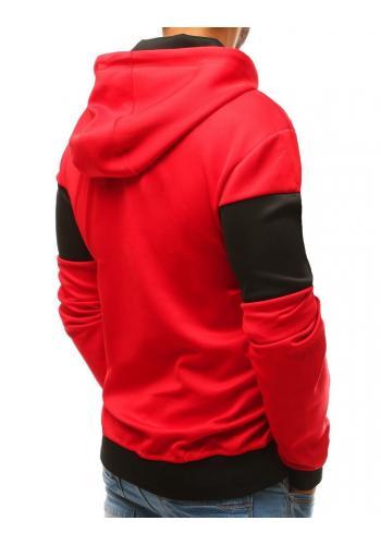 Pánská sportovní mikina s kapucí v červené barvě