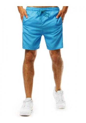 Pánské módní kraťasy na koupání v světle modré barvě