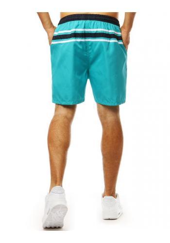 Pánské stylové kraťasy na koupání v světle modré barvě