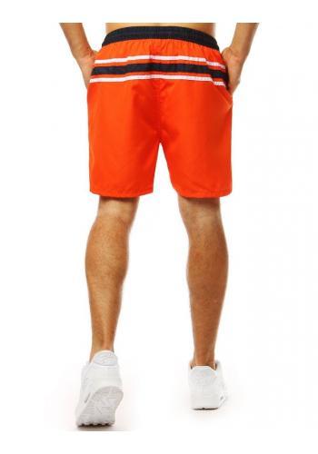 Stylové pánské kraťasy oranžové barvy na koupání