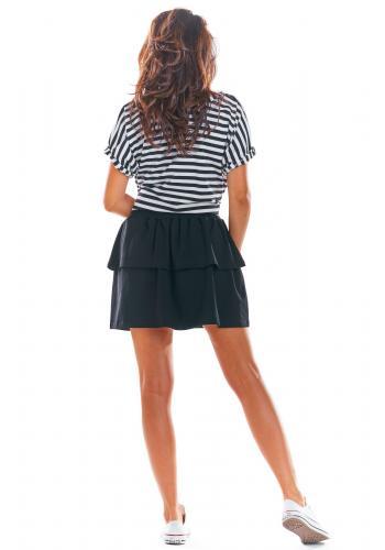 Černá krátká sukně s volány pro dámy