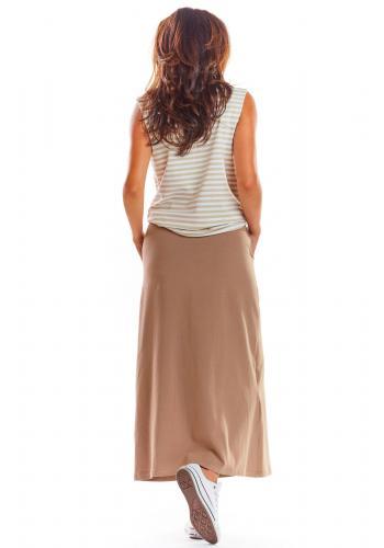Dámské dlouhé sukně na léto v béžové barvě