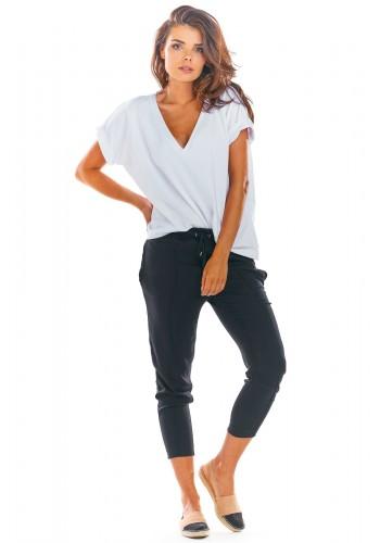 Černé módní kalhoty pro dámy