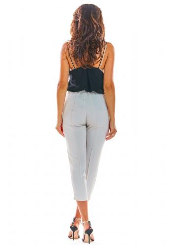 Dámské módní kalhoty v béžové barvě