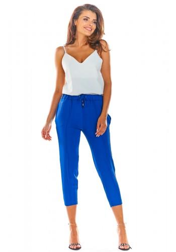 Modré módní kalhoty pro dámy