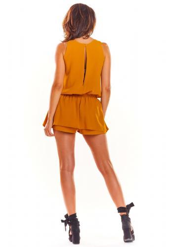Velbloudí letní overal s mini sukní pro dámy