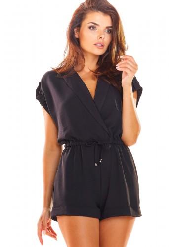 Černý elegantní overal na léto pro dámy