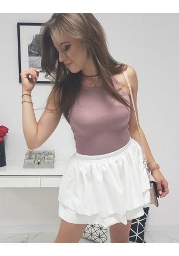 Dámské žebrované tričko v růžové barvě