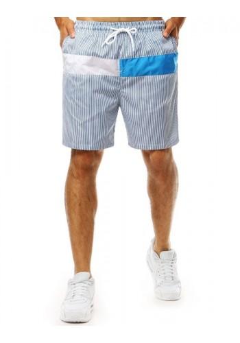 Proužkované pánské kraťasy modré barvy na koupání