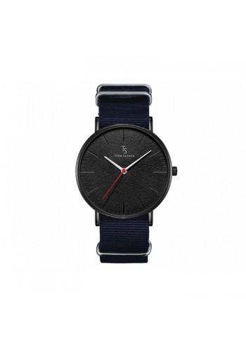Tmavě modré módní hodinky na textilním pásku pro pány