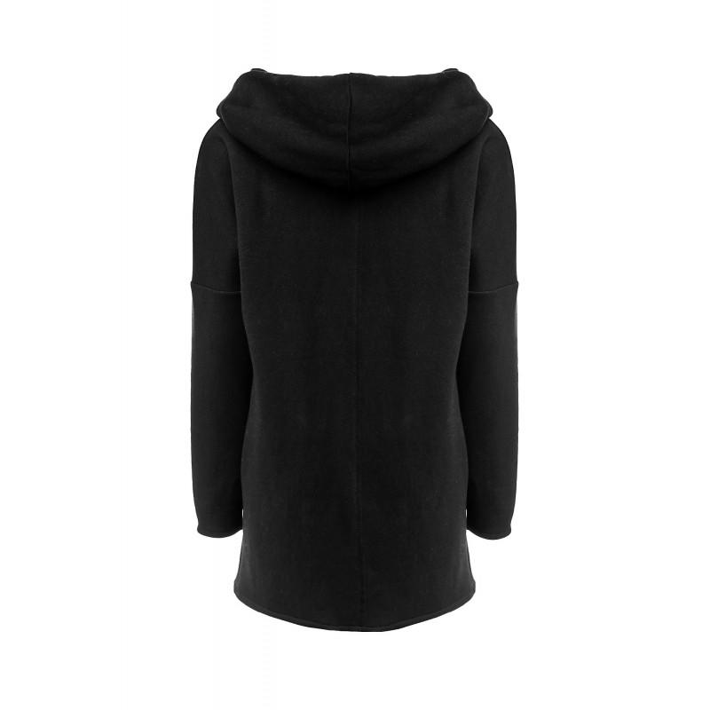 Dámská mikina na zip - černá