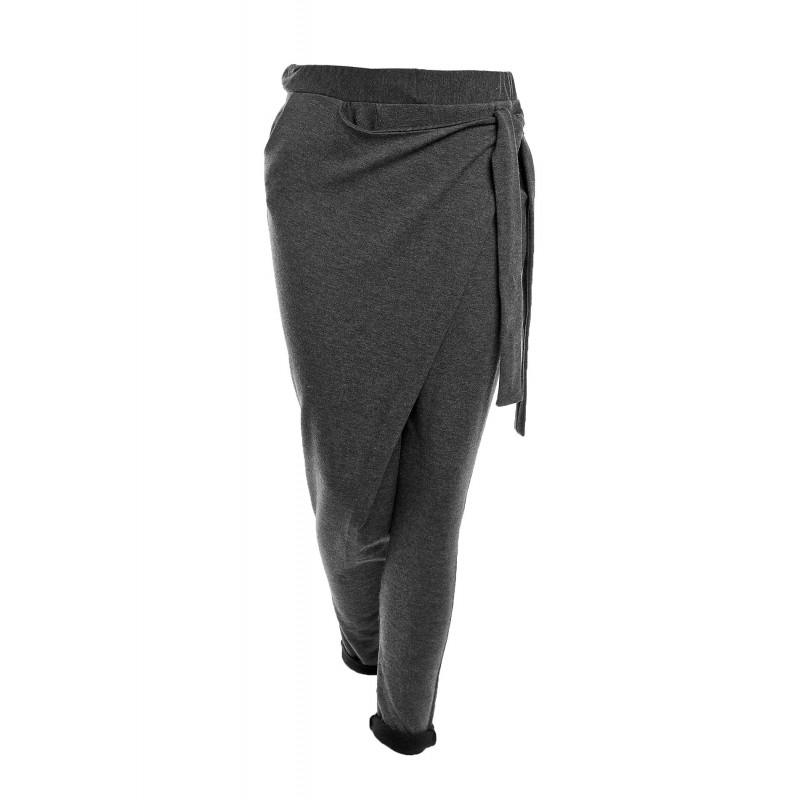 Dámské stylové tepláky - tmavě šedá