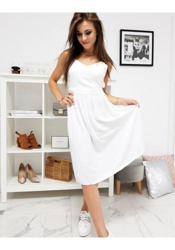 Dámské letní šaty na ramínka v bílé barvě