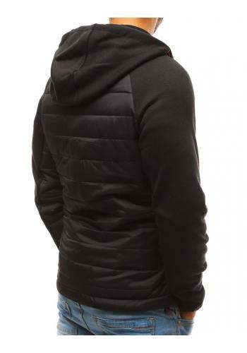 Černá prošívaná bunda na přechodné období pro pány