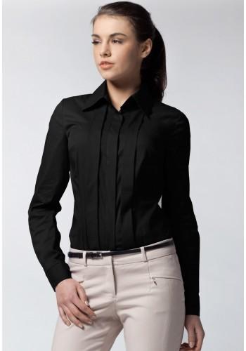 Dámská košile s dlouhým rukávem - černá