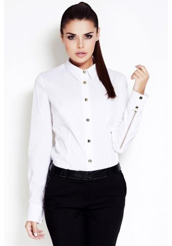 Dámská košile s límcem - bílá