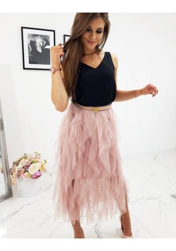 Dámská dvouvrstvá sukně v růžové barvě