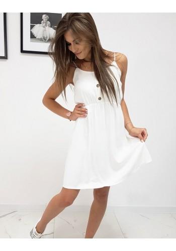 Bílé letní šaty na ramínka pro dámy