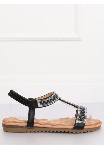 Dámské zdobené sandály v černé barvě