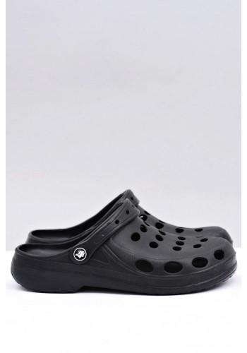 Pánské módní pantofle kroksy v černé barvě