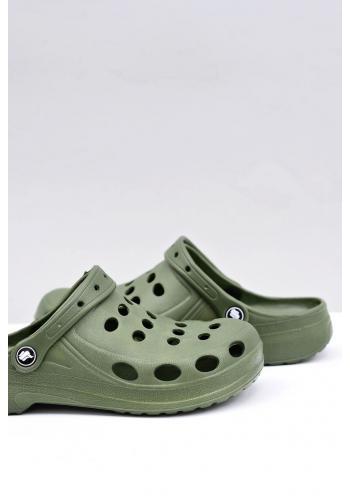 Zelené módní pantofle kroksy pro pány