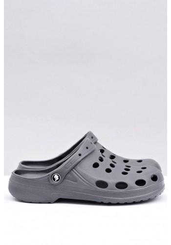 Módní pánské pantofle kroksy šedé barvy