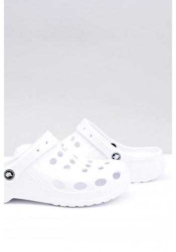 Pánské módní pantofle kroksy v bílé barvě