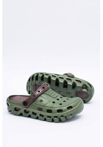 Zahradní pánské pantofle kroksy zelené barvy