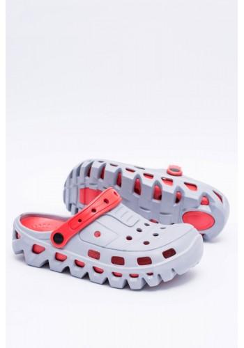 Šedé zahradní pantofle kroksy pro pány