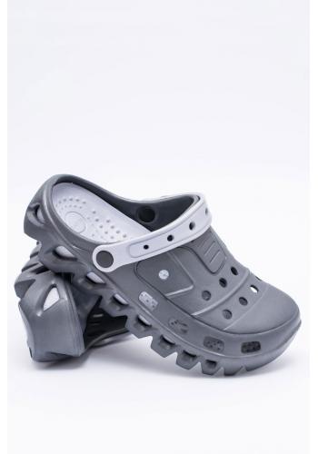 Zahradní pánské pantofle kroksy tmavě šedé barvy