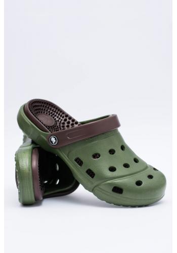 Pánské zahradní pantofle kroksy v zelené barvě