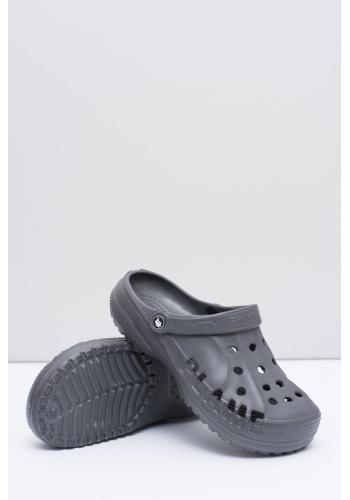 Pánské módní pantofle kroksy k bazénu v šedé barvě