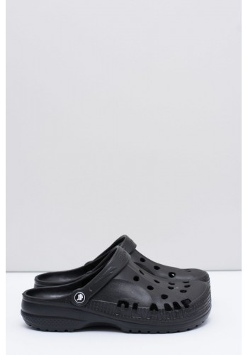 Černé módní pantofle kroksy k bazénu pro pány