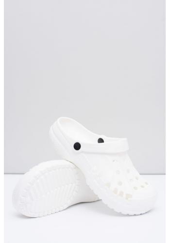 Módní pánské pantofle kroksy bílé barvy k bazénu