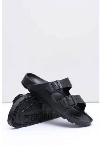 Černé lehké pantofle s regulovatelnými pásy pro pány