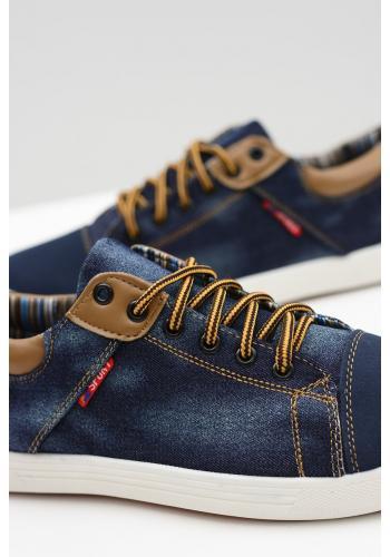 Džínové pánské tenisky modré barvy
