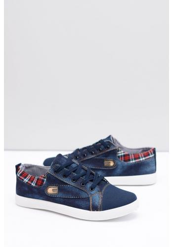 Pánské džínové tenisky v modré barvě