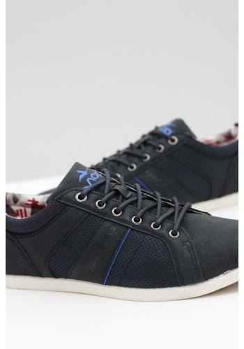 Tmavě modré módní tenisky pro pány