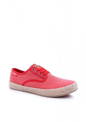 Pánské módní tenisky Big Star v červené barvě
