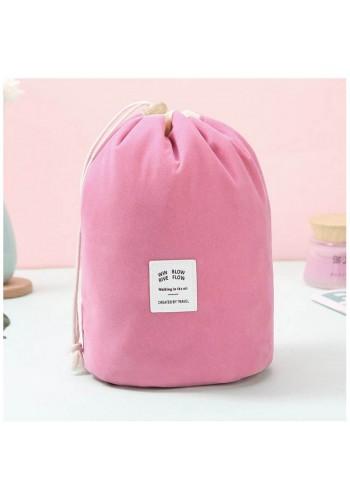 Kosmetická kapsa tmavě růžové barvy