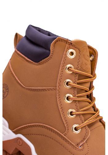 Pánské trekingové boty s oteplením v světle hnědé barvě