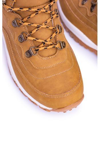 Světle hnědé trekingové boty s oteplením pro pány