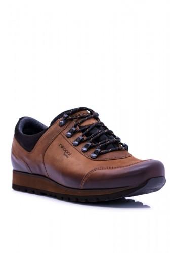 Pánské trekingové boty v hnědé barvě