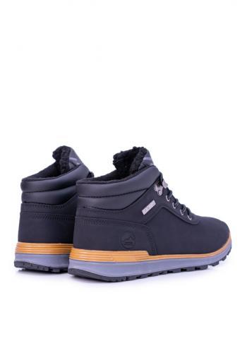 Pánská oteplená trekingová obuv v černé barvě