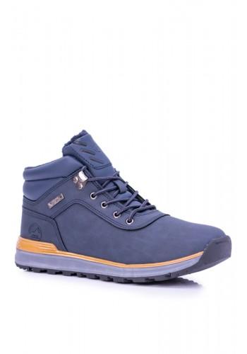 Tmavě modrá oteplená trekingová obuv pro pány