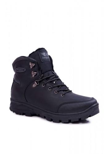 Pánské oteplené trekingové boty v černé barvě